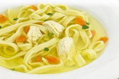Soup with noodles is one of the traditional Slovenian dishes. More