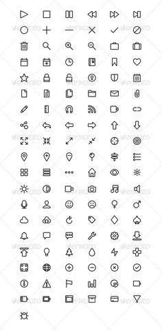 basic wire web icons graphicriver 115 scalable customizable vector web icons perfect for basic icons flat icons 1000