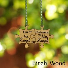 How cute would this be hanging on your tree! Deck the Halls with our very special personalized ornaments! From births to weddings, new homes to anniversaries, celebrate the holidays and commemorate the years special occasions with our personalized ornaments. Our ornaments are laser