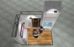 x Modular Exhibition Stand – 4 Exhibition Stand Design, Slat Wall, Exhibition Stall Design