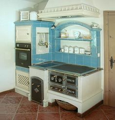 A fun image sharing community. Explore amazing art and photography and share your own visual inspiration! Stove Oven, Kitchen Stove, Old Kitchen, Wood Panneling, Wood Stove Cooking, Wood Projects For Kids, Antique Stove, Vintage Stoves, Wood Backsplash