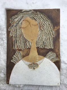 Pottery Angels, Outsider Art, Angeles, Canvas, Cute, Tiles, Handmade, Painting, Inspiration