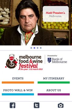 Melbourne Food and Wine Festival 20th year - Mobile Awards - Mobies