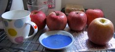 Apples, Mug and Blue Plate. (Photo © C.S. Collins)