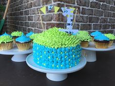 Boys first birthday so cute. Love the colors