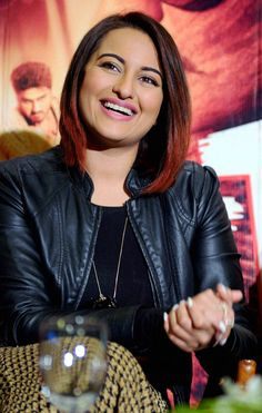 Bollywood actor Sonakshi Sinha at a promotional event in New Delhi.