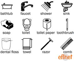 Things in a Bathroom - Worksheet 1 | EFLnet