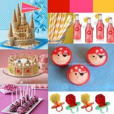 Princess & Pirates Inspiration Board  Crown Cake  Ice Cream Cone Castle Cake