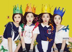 SM's new girl group Red Velvet get their hair tangled in teaser image | allkpop.com