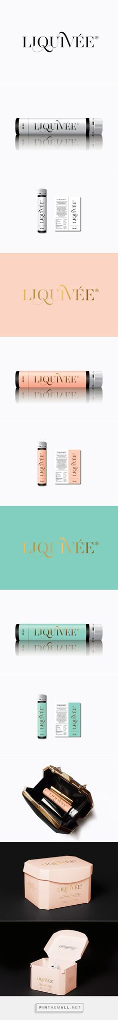 Liquivée by Kiss Miklos curated by Packaging Diva PD. A new type of beauty vitamins in soft and feminine packaging created via http://kissmiklos.com/liquivee