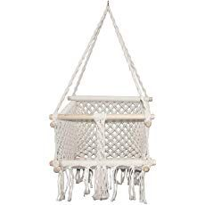 E EVERKING Baby Hanging Chair, Handmade Macrame Cotton Indoor Outdoor Baby Chair Swing, Toddler Children Hanging Chair Swing for Playroom Nursery Decor Girl Boy Birthday Gift Hanging Swing Chair, Swinging Chair, Birthday Gifts For Boys, Boy Birthday, Nursery Themes, Nursery Decor, Macrame Wall Hanging Diy, Baby Chair, Outdoor Baby