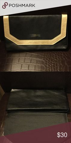 "Lanvin Parfums Make Up Bag Lanvin Parfums Make Up Bag, 6"" by 10.25, Black with gold trim, new, never used Lanvin Bags Cosmetic Bags & Cases"