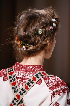 "the-chanel-charade: ""glamour: ""Flower-braided crowns at Valentino spring 2015 couture. Photo: Style.com "" X """