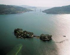 San Simón, puente de Rande, ría de Vigo. Cosas maravillosas de #Galicia. Enlace permanente de imagen incrustada