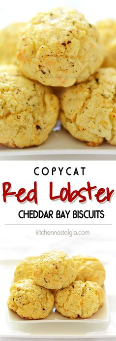 Copycat Recipe for Red Lobster Biscuits - flaky, buttery, garlicky; ready in 5 minutes, baked in 15 minutes - kitchennostalgia.com