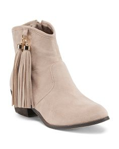 Ankle Booties With Tassels