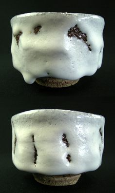 Hagi yaki (Hagi ware) yunomi by Japanese artist Seigan Yamane.