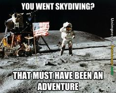 you went skydiving?