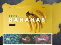 UI for Agriculture company designed by Artur Lyakhiv. Agriculture Companies, Marketing Websites, Banana, Sweet, Food, Candy, Essen, Bananas, Meals