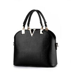 JJ Fashion 2016 Famous Shell Tote Women Zipper Tote Handbag Black >>> You can get additional details at the image link.