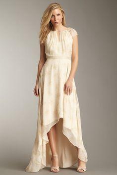 Elizabeth and James Floral Sandy Silk Dress