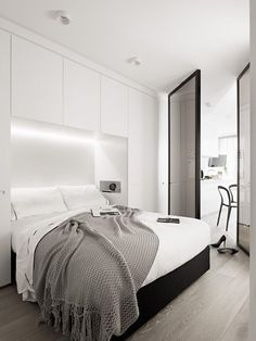 dressing pour petite chambre -encastré-mur-éclairage-led