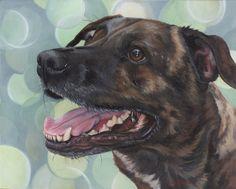 Custom Pet Portrait  oil 36x48 by LeahDaviesArt on Etsy