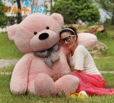 GIANT 63'' BIG PLUSH Pink TEDDY BEAR HUGE STUFFED ANIMAL SOFT TOY BIRTHDAY GIFTS Huge Teddy Bears, Large Teddy Bear, Giant Teddy Bear, Teddy Bear Toys, Teddy Photos, Teddy Bear Pictures, Big Plush, Cute Plush, Bear Tumblr