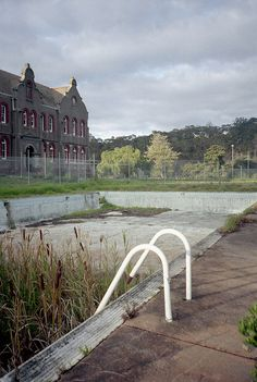 Convent and abandoned pool (You don't expect a pool to be part of a convent!)