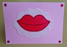 Handmade C6 Kiss Greeting Card Any Occasion by BavsCrafts on Etsy