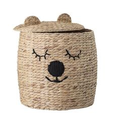 Bloomingville Mini Bertie Bear Basket with Lid - Beaumonde