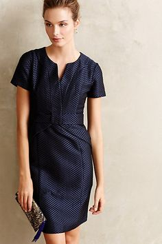 Diamond-Dot Pencil Dress - anthropologie.com