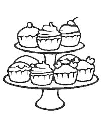 Stunning Coloring Pages Of Cupcakes