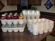 Canning Jar Boxes - what an awesome idea, I totally need these!