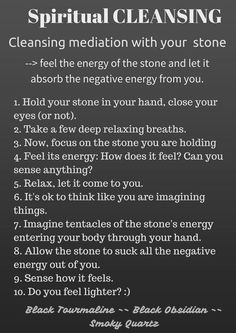 Spiritual cleansing with stones~✨                                                                                                                                                                                 More