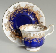 Royal Albert Regal Series Footed Cup & Saucer Set