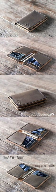 Leather Wallet. This handmade leather wallet has been the number one wallet on Etsy for the last 2 years!! Its an awesome, unique gift idea that will make the lucky recipient a very happy camper. Make sure to get it personalized!!
