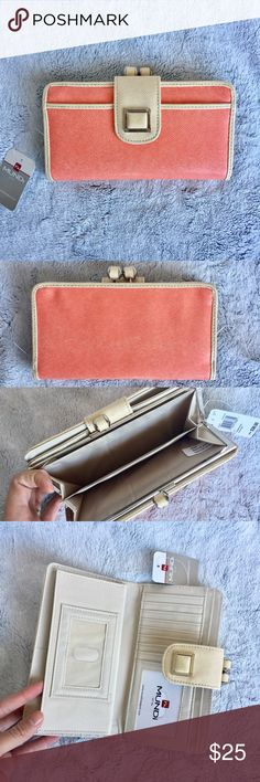 |new| Great Coral Wallet Super chic wallet, perfect for Springtime   ✔️If you'd like to MAKE AN OFFER please do so through the offer button ONLY. I won't negotiate prices in the comments.  ✔️All sale items, items $15 and under, & clearance items are firm unless BUNDLED.  ❌No trades, PayPal, Holds 📷Instagram: @lovelionessie Mundi Bags Wallets