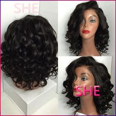 Find More Synthetic Wigs Information about New Arrival Natural Short Synthetic lace front Wigs Good Quality short hair wigs for black women,High Quality Synthetic Wigs from SHE Lady House on Aliexpress.com