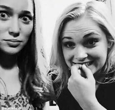 Alycia Debnam-Carey and Eliza Taylor ( photoshopped )