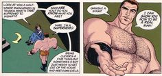 Grant Morrison in Flex Mentallo. Resuming the entire concept behind Millar's Wanted in two sentences. Flex Mentallo, Arrow Words, Grant Morrison, Doom Patrol, Freedom Fighters, Dc Heroes, Look At You, Justice League, Inktober