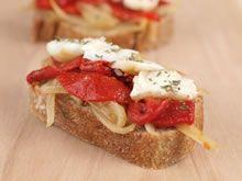 broodje met gegrilde paprika