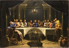 """""""I tell you I shall not drink again of this fruit of the vine until that day when I drink it new with you in my Father's kingdom."""" Matthew 26:29 // The Last Supper / La Última Cena // c. 1678 // Jean-Baptiste de Champaigne // Detroit Institute of Arts // #Jesus #Christ #Cristo"""