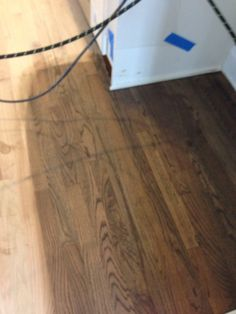 Minwax Jacobean and Classic Gray stain on red oak hardwood floors. We are thrilled with the three color tones or brings out. Touches of ebony, walnut and gray. So versatile and yet modern vintage. Red Oak Floors, Real Wood Floors, Oak Hardwood Flooring, Home Design, Oak Floor Stains, Floor Stain Colors, Floor Rugs, Gray Stain