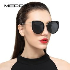 Classic Designer Cat Eye Polarized Sunglasses