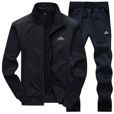 8dedd4ceda6 UNCO BOROR new Fashion Spring Autumn Men Sportswear 2 Piece Set Sporting  Suit Jacket+Pant Sweatsuit Men Clothing Tracksuit Set