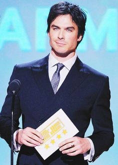 Ian Somerhalder presents onstage during the 19th Annual Critics' Choice Movie Awards (Jan 16, 2014)