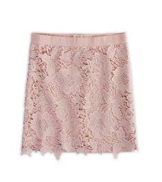 AE Lace Overlay Mini Skirt