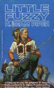 "Little Fuzzy Book Cover: No Wasted Ink reviews the classic science fiction novel ""Little Fuzzy"" by H. Beam Piper."