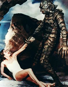 my favorite universal studios monster creature from the black lagoon.doin the hucklebuck ? Sci Fi Horror Movies, Horror Icons, Classic Horror Movies, Horror Show, Scary Movies, Good Movies, Horror Monsters, Scary Monsters, Famous Monsters